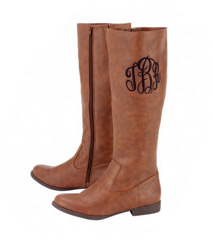 Get Tailgate Ready With Our Monogrammed Camel Boots and Crossbody Purse!