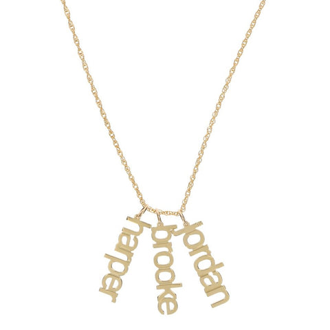 Modern Gold Name Necklace - Necklaces - BeauJax Boutique