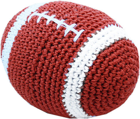 Knit Knacks Crotcheted Snap the Football Dog Toy by Pet Flys - Dog Toys - BeauJax Boutique