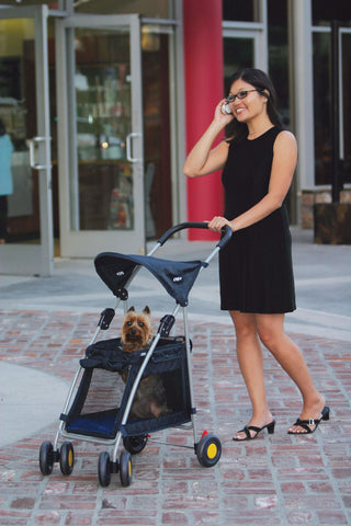 Navy Dog Stroller - Strollers - BeauJax Boutique