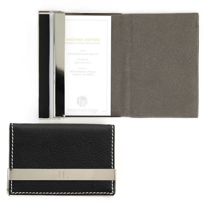 Engraved Black Business Card Holder – BeauJax Boutique