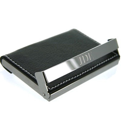 Engraved Black Business Card Holder - Mens - BeauJax Boutique