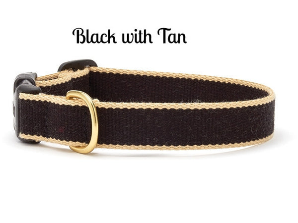 Bamboo Black and Tan Dog Collar - Personalized Collars - BeauJax Boutique