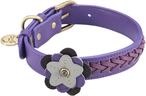 Leather Flower Petal Dog Collar - Leather Collars - BeauJax Boutique