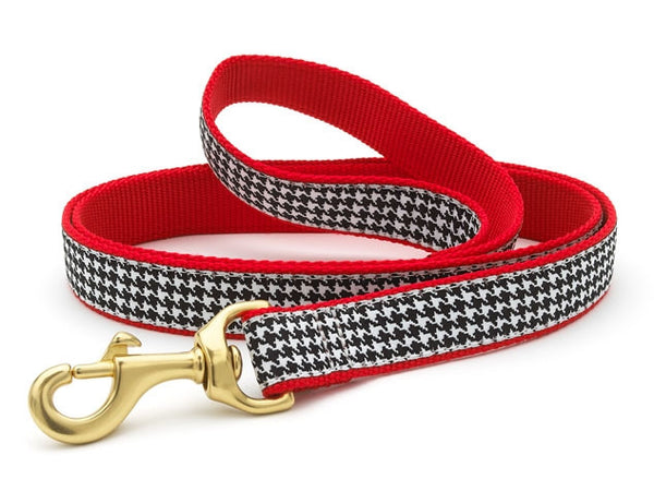 Houndstooth Ribbon Dog Lead - Leads - BeauJax Boutique