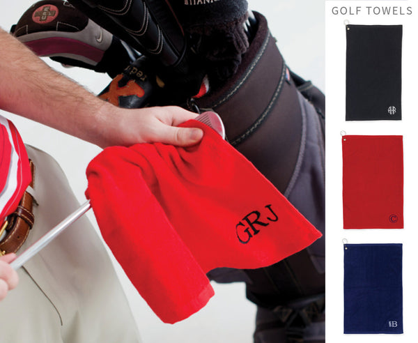 Monogrammed Golf Towels - Mens - BeauJax Boutique