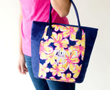 Summer Floral Cooler Tote - Cooler Totes - BeauJax Boutique