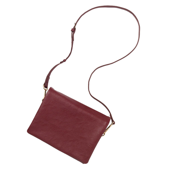 Burgundy Monogrammed Crossbody Foldover Flap Purse - Purses - BeauJax Boutique