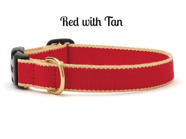 Bamboo Red and Tan Dog Collar - Personalized Collars - BeauJax Boutique