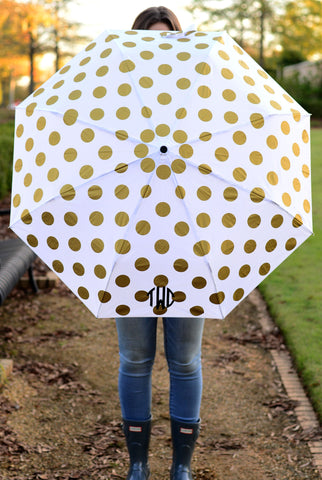 Adorable Monogrammed Umbrellas in Stripes and Polka Dots - Rain Accessories - BeauJax Boutique