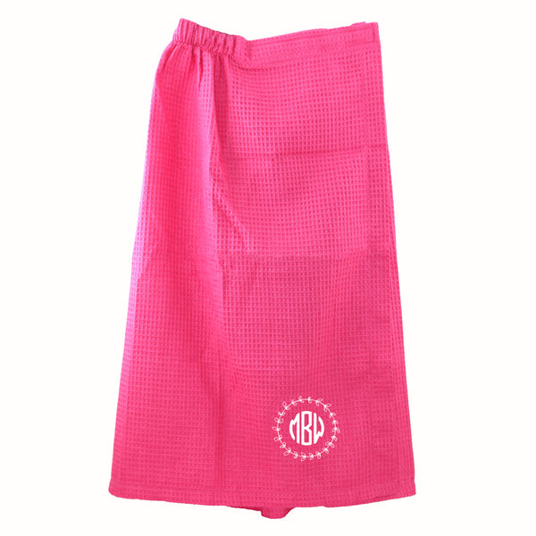 Waffle Weave Monogrammed Pool and Bath Wrap - Bath Essentials - BeauJax Boutique
