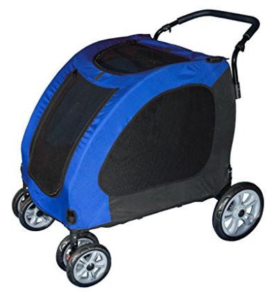 Large Blue Explorer Dog Stroller - Strollers - BeauJax Boutique
