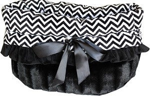 Reversible 3-in-1 Black Chevron Snuggle Bug Bed, Carrier, Car Seat - Carriers and Car Seats - BeauJax Boutique