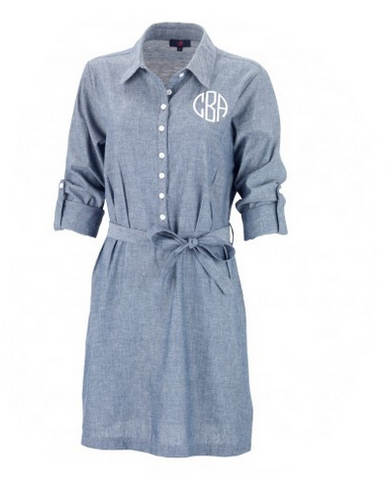 Blue Chambray Shirt Dress - Dresses for Mom - BeauJax Boutique