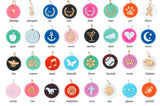 Acrylic Icon Charms for Build-A-Bangle Monogrammed Bracelet - Charm Bracelet Accessories - BeauJax Boutique