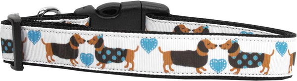 Doxie Love Ribbon Dog Collars - Dog Collars - BeauJax Boutique