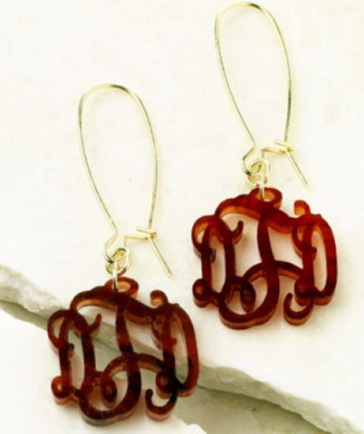 Interlocking Monogram Acrylic Earrings with 16 Color Options - Acrylic Jewelry - BeauJax Boutique