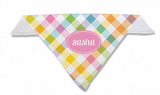 Gingham Personalized Dog Bandana in 5 Colors - Bandanas - BeauJax Boutique
