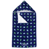 Getting Crabby Kids Monogrammed Hooded Beach Towel - Beach Towels - BeauJax Boutique