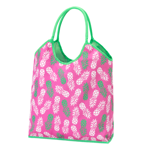 Pineapple of My Eye Monogrammed Beach Tote - Back in Stock May 2017 - Beach Bags - BeauJax Boutique