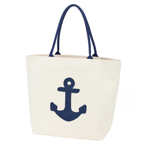 Preppy Anchor Monogrammed Canvas Tote Bag - Tote Bags - BeauJax Boutique