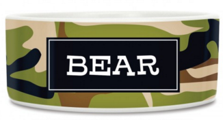 Camo Dog Bowl Available in 6 Camo Colors - Bowls - BeauJax Boutique