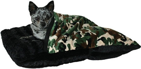 Pet Pockets Bed in Army Camouflage - Dog Blankets - BeauJax Boutique