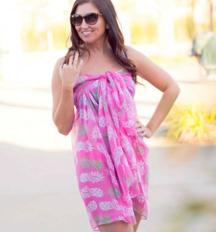 Pineapple of My Eye Wrap - Beach Coverups - BeauJax Boutique