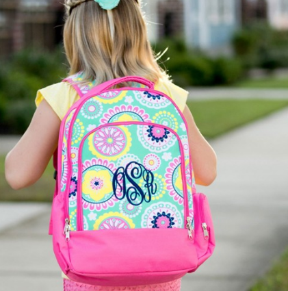 Piper Monogrammed Backpack for Girls - Backpacks - BeauJax Boutique