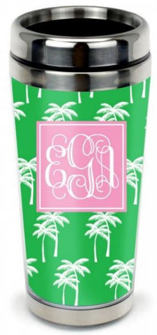 New! Monogrammed Stainless Steel Travel Tumbler in 33 Designs - Drinkware - BeauJax Boutique