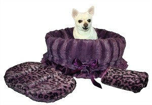 Reversible 3-in-1 Purple Cheetah Snuggle Bug Bed, Carrier, Car Seat - Carriers and Car Seats - BeauJax Boutique