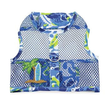 surfboard-blue-and-green-tropical-hawaiian-cool-mesh-dog-harness-and-matching-leash-summer-BeauJax-Boutique