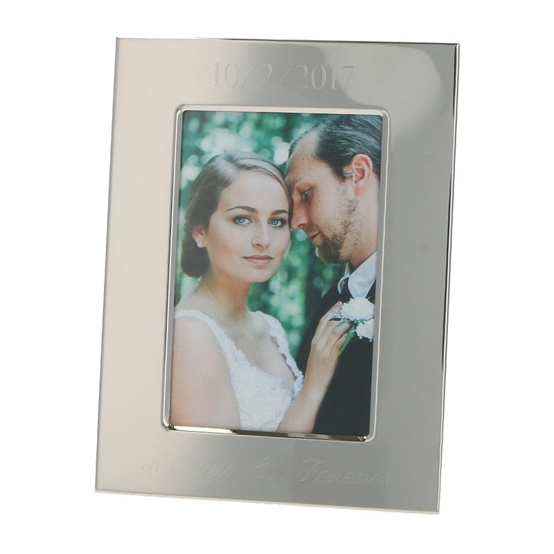 Engraved Silver Finish Photo Frame in 4x6 or 5x7 – BeauJax Boutique