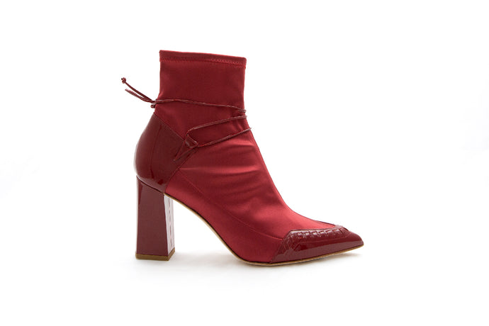 STAR ankle boot in Burgundy by MAISON BEDARD