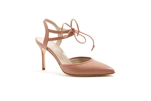 ELLE Ankle Tie Pump | Desert Rose