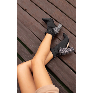STAR Ankle Boot | Black & White