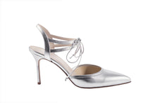 Load image into Gallery viewer, ELLE Ankle Tie Pump | Silver