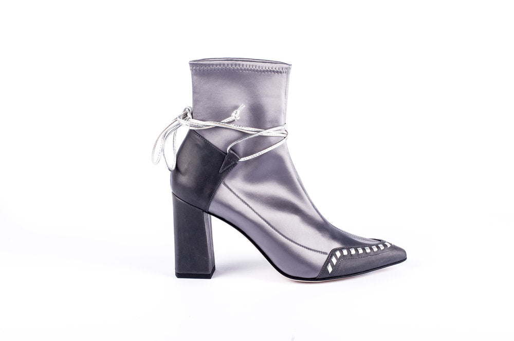 STAR Ankle Boot | Silver & Grey