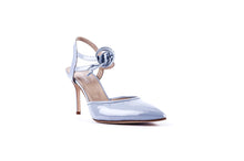 Load image into Gallery viewer, ELLE Ankle Tie Pump | Blue Patent