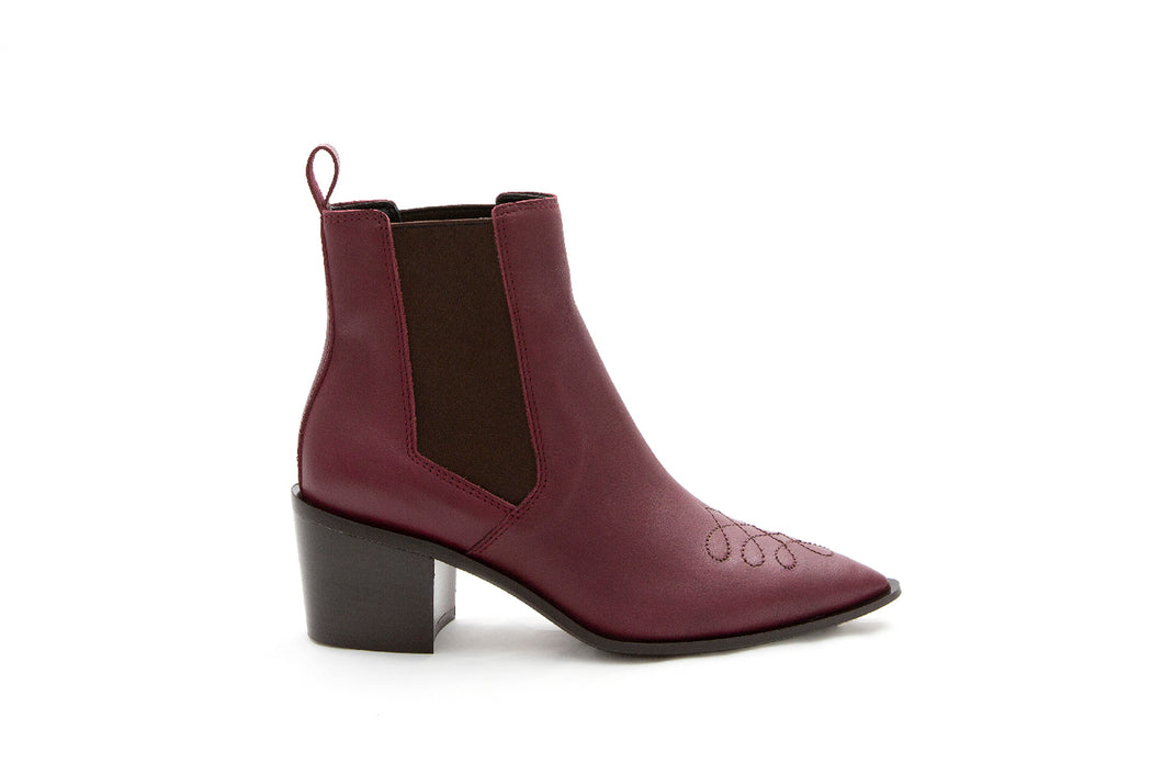 WEST Cowboy boot Burgundy by MAISON BEDARD