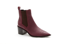 Load image into Gallery viewer, WEST Cowboy boot Burgundy by MAISON BEDARD