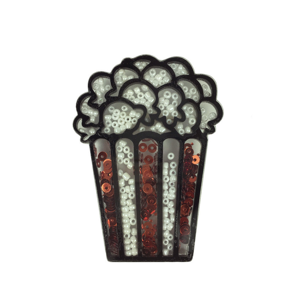 Sequin Popcorn Brooch - Bon Flare Ltd.