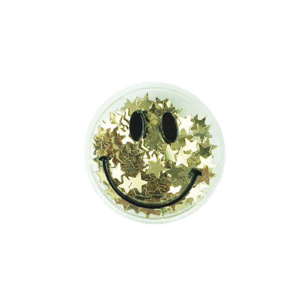 Star Sequin Happy Face Brooch - Bon Flare Ltd.