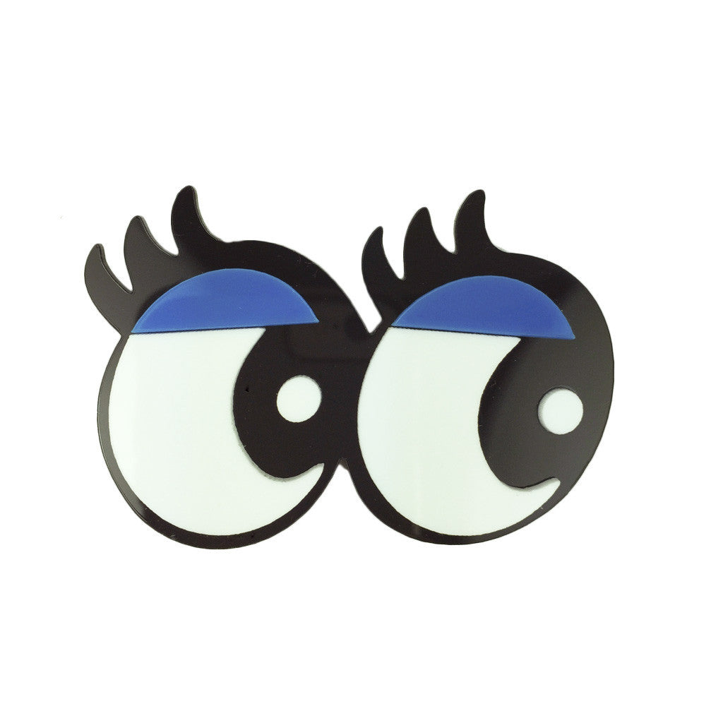Gorgeous Eyelashes Eyes Brooch - Bon Flare Ltd.