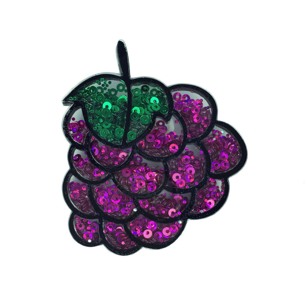 Sequin Grape Brooch - Bon Flare Ltd.