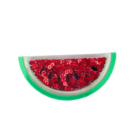 Sequin Watermelon Brooch