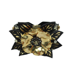 Floral Leather Bracelet - Bon Flare Ltd.