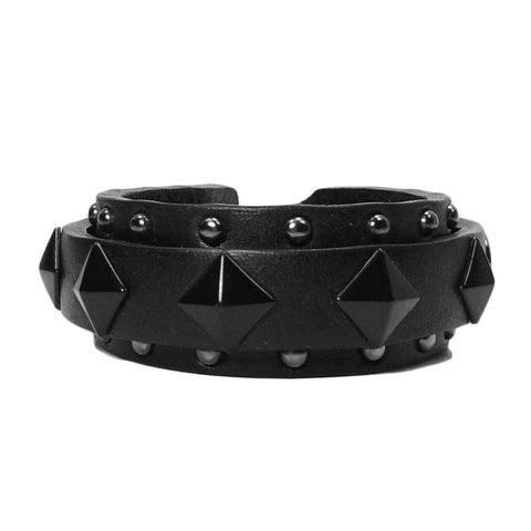 Unisex Stud & Rivet Leather Bracelet