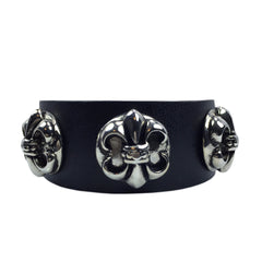Unisex Fleur-De-Lis Leather Bracelet - Bon Flare Ltd.