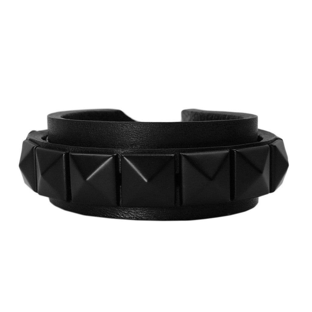 Unisex Stud Leather Wrap Around Bracelet - Bon Flare Ltd.